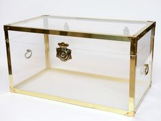 Gold + Lucite trunk