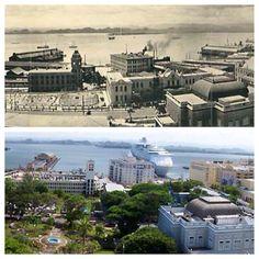 antes y después 80 años Bahía de San Juan