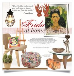 """""""Frida at Home, Today ~ Decor With MLF"""" by alexandrazeres ❤ liked on Polyvore featuring interior, interiors, interior design, home, home decor, interior decorating, EASEL, NOVICA, Nearly Natural and Surya"""