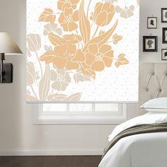 Blush Flowers Printed Roller Blind  #rollerblinds #homedecor #interiordesign