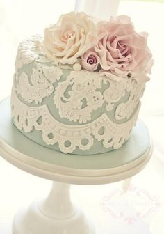 Wedding Cake Ideas - Weddbook - look at the details in the roses.
