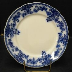 W.H. Grindley Flow Blue plate. I do not know the pattern.