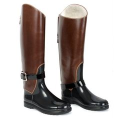 fddc5b7c2099 Dolce   Gabbana Brown Black Riding Boot Leather Riding Boots