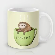 Buy Sloffee Mug by Sophie Corrigan. Worldwide shipping available at Society6.com. Just one of millions of high quality products available.
