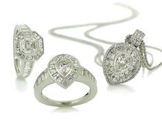 Rosendorff Couture Collection Diamond Rings with Diamond Pendant