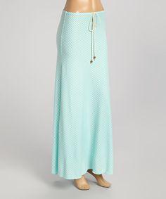 Mint Stripe Maxi Skirt