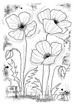 Woodware Clear Singles Stitched Poppies 4 in x 6 in Stamp Creative Expressions Forest Crafts, Prima Marketing, New Forest, Craft Business, Clear Stamps, Art Journals, Craft Stores, Poppies, Craft Supplies