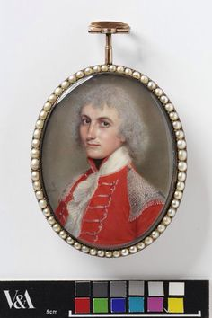 Thomas Nuttall 1796. Watercolour on ivory by Samuel Andrews.
