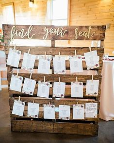 Wedding favor ideas + inspiration to help you ditch the favors guests will toss and give them something unique that they'll want to keep! Cute favor ideas, sustainable wedding favors, food favors, DIY wedding favors and other favors that guests will love! Rustic Seating Charts, Reception Seating Chart, Rustic Wedding Seating, Rustic Wedding Signs, Seating Chart Wedding, Reception Ideas, Wedding Country, Rustic Table Numbers, Table Seating Chart