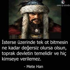 Mete Han'ın resimli sözleri Turkish Soldiers, Dark Fantasy Art, Wallpaper Quotes, Funny Texts, Cool Words, Ale, History, Don't Forget, Parks