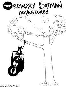 Because Batman loves tire swings!