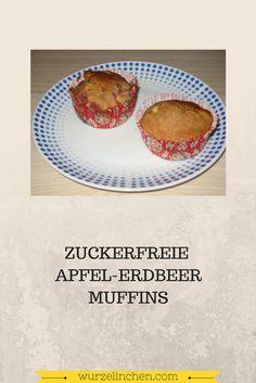 Apfel Erdbeer Muffins zuckerfrei backen