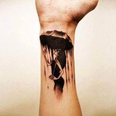 Woman with umbrella Tattoo   #Tattoo, #Tattooed, #Tattoos