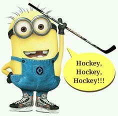 Minions love hockey! lol