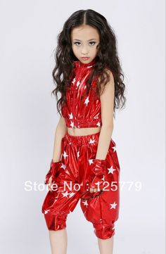 XC-007 Modern children stage dance performance tops and shorts