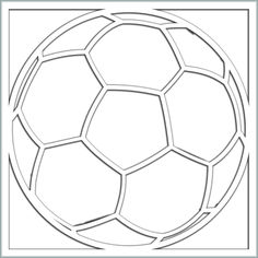 Soccer Ball 12 x 12 Overlay Laser Die Cut