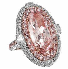 Natural Light Pink GIA Cert carat Oval Diamond in Gregg Ruth . Pink Diamond Ring, Oval Diamond, Diamond Gemstone, Gemstone Rings, Pink Jewelry, Diamond Jewelry, Jewelry Rings, Jewelry Box, Latest Jewellery