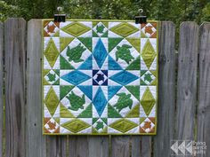 Storm at Sea quilt with turtles by Flying Parrot Quilts