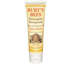 Burts Bees Thoroughly Therapeutic Honey & Grapeseed Oil 2.6 oz Hand Creme