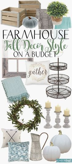 Farmhouse Fall Decor Style on a Budget! | A Shade Of Teal…  Farmhouse Fall Decor Style on a Budget! | A Shade Of Teal  http://www.coolhomedecordesigns.us/2017/06/20/farmhouse-fall-decor-style-on-a-budget-a-shade-of-teal/