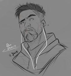 Gabriel Reyes by Cartoon Drawings, Animal Drawings, Cool Drawings, Overwatch Hero Concepts, Character Art, Character Design, Overwatch Reaper, Overwatch Wallpapers, Snake Art