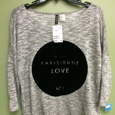H&M 'Parisienne' sweater! #HandM #fall #fallfashion #style #thrift #thriftfashion #thriftstyle #thrify #thriftstore #trendy