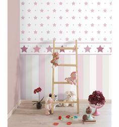 Flores papel 1 habitaciones bebe ni a pinterest las - Papel pintado bebe nina ...