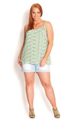 City Chic - SHORT LIGHT HI WAIST SHORT - Women's plus size fashion