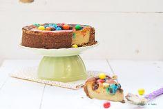 Sabores de colores: Tarta de queso, crema de cacahuete y M&M's