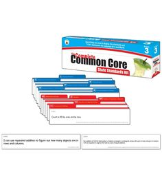 The Complete Common Core State Standards Kit Pocket Chart Cards - Carson Dellosa Publishing Education Supplies