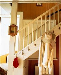 Stairs and hooks at Carl Larrson's House at Sundborn