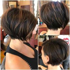 7.Brown Short Hairstyle