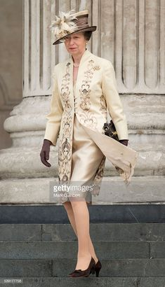 Princess Anne, Princess Royal attends a National Service of Thanksgiving as part of the birthday celebrations for The Queen at St Paul's Cathedral on June 2016 in London, England. Get premium, high resolution news photos at Getty Images Princesa Real, Princesa Anne, Windsor, Queen 90th Birthday, Elisabeth Ii, Estilo Real, Royal Princess, British Monarchy, Royal Jewels
