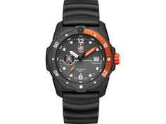 The Luminox Bear Grylls Survival Sea Series Watch features a uni-directional turning bezel has a special diving zone count up marking (1-20), set off by a different color (blue or orange) for easy reading. The screw-down crown has an orange rubber ring, for better grip, and the color matches the markings on the bezel and the minute and second hands (orange being one of the most visible color for underwater work). The SEA series comes with a waved black rubber strap – the waves making the… Bear Grylls Watch, Navy Seals, Bear Grylls Survival, Survival Watch, Cool Gear, 316l Stainless Steel, Classic Man, Good Grips, Black Rubber