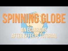 Spinning Globe - Adobe After Effects tutorial Adobe After Effects Tutorials, Effects Photoshop, Animation Programs, Text Animation, Spinning Globe, Computer Drawing, After Effect Tutorial, Creative Suite, Animation Tutorial