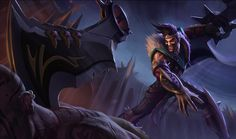 Draven | League of Legends Unlike his brother Darius, victory in battle was never enough for Draven. He craved recognition, acclaim, and glory. He first sought greatness in the Noxian military, but his flair for the dramatic went severely underappreciated. Thirsting for a method to share ''Draven'' with the world, he turned his attention to the prison system. There he carved out the celebrity he desired by turning the tedious affair of executions into a premiere spectacle.