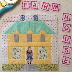 A-dorable block made by @quilter724 from Farm Girl Vintage...such a cute photo…