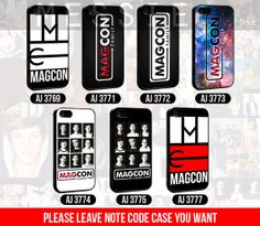 Magcon Family Logo Collection - iPhone 4/4s/5/5s/5c - iPod 4/5 - Samsung Galaxy s3 i9300/s4i9500 Case by MESSIEY on Etsy