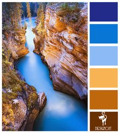 Canyon Lake: Blue, Azure, Sky, Sand, Brown - colour inspiration Pallet