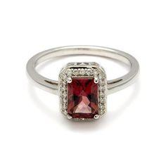 Elongated Rosette Ring - Pink Tourmaline