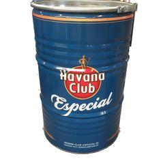 Havana Club Style Grillfass BBQ BarrelQ, groß, Edelstahl: Grillen und Chillen mit der  Grilltonne BBQ BarrelQ: Grill, Hingucker, Feuerkorb, Designer-Möbelstück, Außenküche, Beistelltisch und Transport-/ Aufbewahrungscontainer in Einem.