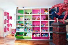 Toy storage - minus the spiderman
