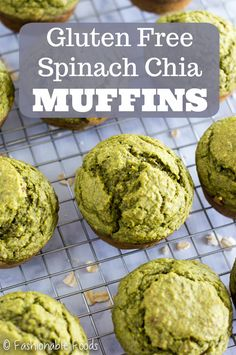 Sweetened only with fruit and chock full of good-for-you ingredients these gluten free spinach chia muffins make the perfect breakfast or snack!