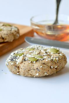 Microwave keto bread or flaxseed bread. An easy 5 ingredients single serve bread recipe that taste like artisan style bread! Ready in 90 seconds NO mugs required! Starts the day with only 1.2 grams net carb,full of fibre from flax meal and coconut flour. 100 % Vegan + Paleo + Grain free + Low Carb.