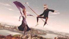 Jelsa, Elsa Anime, Frozen Love, Jack Frost And Elsa, Rise Of The Guardians, Disney Couples, Dragons, The Big Four, Sailor Princess