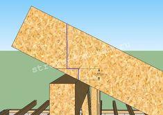 Конструкция вальмовой крыши с опиранием стропил на балки перекрытия. | ГЛАВНАЯ Backyard Pavilion, Backyard Sheds, Backyard Patio, Building A Porch, Building A House, Diy Wooden Projects, Summer House Garden, Shed House Plans, Roof Ceiling