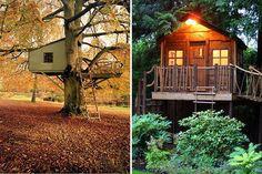 Casas-árbol de madera