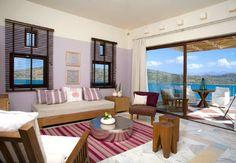 *********!!!!!Domes of Elounda, Crete, Premium One Bedroom Suite Living Room with 2 sofa beds