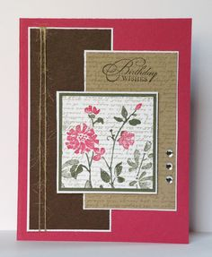 Not really a card sketch but I like this layout and want to re-make it with different papers and stamps