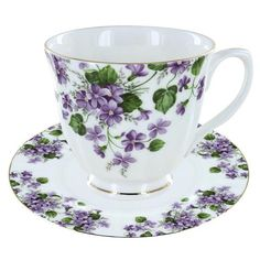 Gracie's Violets Bone China - Tea Cup and Saucer Set of You are able to enjoy morning meal or various time periods using tea cups. Tea cups likewise have ornamental features. Once you go through the tea cup designs, you will see this clearly.